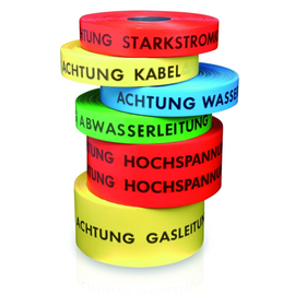 1063 Coroplast Kabelwarnband Achtung Starkstrom (1Rol.=250Mtr.) Produktbild
