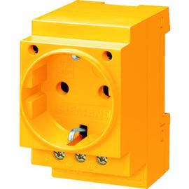 5TE6810 SIEMENS Schukosteckdose 16A gelb nach DIN VDE 0620 Produktbild