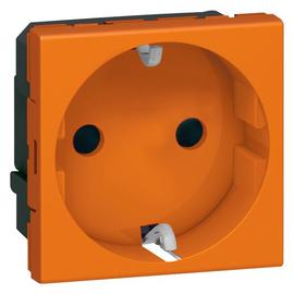 077217 LEGRAND MSC SDO Schuko SI 2MOD orange Produktbild