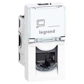 076573 Legrand Mosaic Cat6A geschirmt 1-fach 1 Modul, werkzeuglos, ws Produktbild