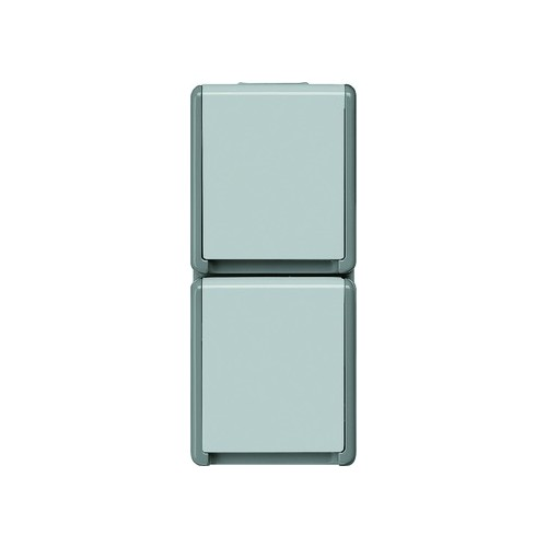 5UB4723 SIEMENS AP-FR Schuko-Steckdose 2-fach senkrecht DELTA Fläche grau IP44 Produktbild