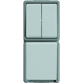 5TA4815 SIEMENS AP-FR Serienschalter/ Schuko-Kombination DELTA Fläche gr. IP44 Produktbild