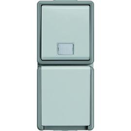 5TD4811 SIEMENS AP-FR Taster/Schukosteck dosen-Kombination DELTA Fläche IP44 gr. Produktbild