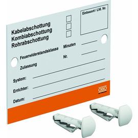 7205425 Obo KS-S DE Kennzeichnungsschild für Abschottungs-Systeme 100x70mm Produktbild