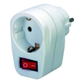 1508070 Brennenstuhl Adapter Stecker m.Schalter Ein / Aus weiss Produktbild