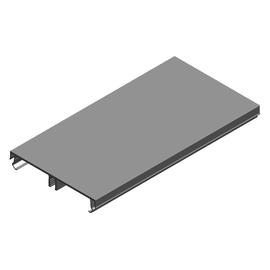 11738 ELITEC 80mm Deckel für Brüstungs- Kanal Alu Reinweiss BRA3 OT/BE L=1000mm Produktbild