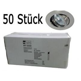 MY-6800-NI/BOX Leuchtwurm Einbaustrahler *50erSET* nickel-matt max12V 50W o. Fas. Produktbild