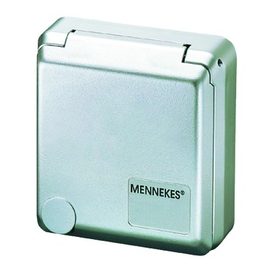 AM 4984 MENNEKES Anbau Schuko-Wandsteckd . Cepex 16A 2p+E 230V IP44 silber Produktbild
