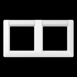 AS5820NAWW Jung Rahmen 2-fach AS500 alpinweiß m. Schriftfeld Produktbild