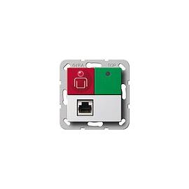 290303 GIRA Ruf-/Abstelltaster Nebenstec kkontakt System 55 Reinweiß Produktbild