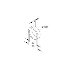 K2169 KLEINHUIS elast. Zwischenring f. . 82/13 Produktbild