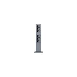 135126 GIRA 769mm 6xLeereinheit Energie- Säule Farbe Alu Produktbild