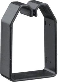 B600403 HAGER Drahthalteklammer 60040 schwarz Produktbild
