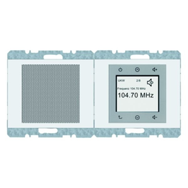 28807009 Berker BERKER K.1 Radio Touch polarweiß Produktbild