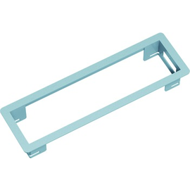 317000 BACHMANN Power Frame Einbaurahmen Silbergrau RAL9006 kurz Produktbild