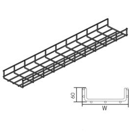 E88446 Vergokan VFUL 60*100 Gitterbahn leicht H=60mm B=100mm (VFL) Produktbild