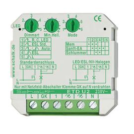 ETDU29 SCHALK Universal-Tast-Dimmer LED/ESL 230V AC 35-500W UP Produktbild