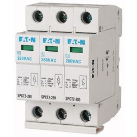 167595 EATON SPCT2-280/3 Überspannungs- Ableiter 280VAC 3POL. 3x20kA steckbar Produktbild