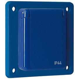 10 005 Walther Maschinensteckdose 230V 75x75 Schraubanschluss Blau Fronteinau Produktbild