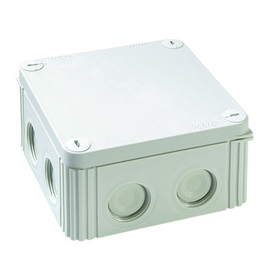 10060519 WISKA FR Dose m. Klemmblock 110x110x57 IPP66/67 Ral7035 Industrie Produktbild