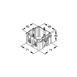 GDHR50 NIEDAX Geräte-Einbaudose Produktbild