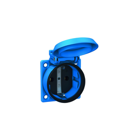 1561050 ABL Einbausteckdose blau 50x50 IP54 Produktbild