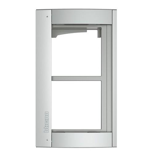 350221 Bticino Rahmen + Modulträger 2 Module Allmetal Produktbild Front View L