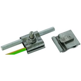 540250 DEHN Uni Erdungsklemme Niro f. RD 8-10 u. Leiter 4-50mm² M8 Schraube Produktbild