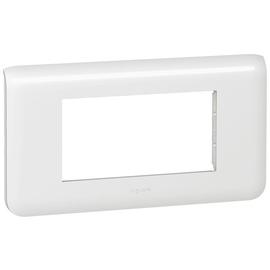078814 LEGRAND MSC Rahmen 4mod horizontal ws Produktbild