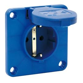 105-7b PC-Electric Schuko-Anbausteckdose 16A IP54 blau Produktbild
