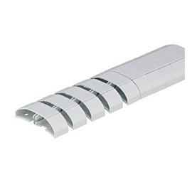 6593 5211 0000 Schulte EVOline WireLane U-Tischkanal kunststoff 650-1000mm grau Produktbild
