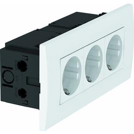 6119414 OBO SDE-RW D0RW3 Steckdosen einheit Modul 45 3fach 84x185x59 reinwei Produktbild