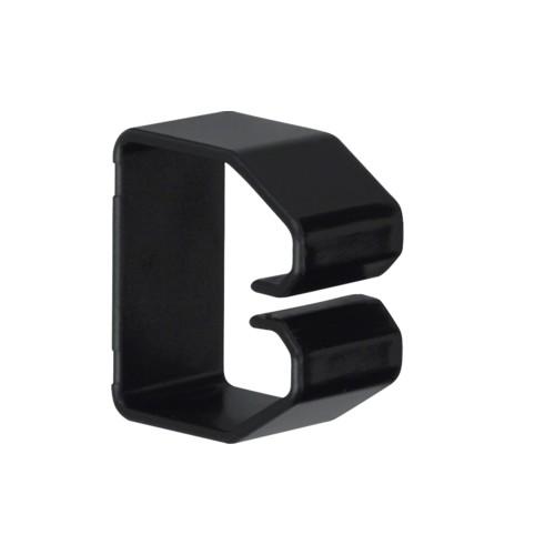 B400403 HAGER Drahthalteklammer 40040,schwarz Produktbild Front View L