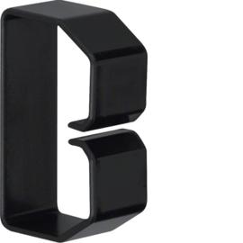 B400603 HAGER Drahthalteklammer 40060,schwarz Produktbild