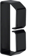 B400803 HAGER Drahthalteklammer 40080,schwarz Produktbild