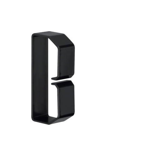 B400803 HAGER Drahthalteklammer 40080,schwarz Produktbild Front View L