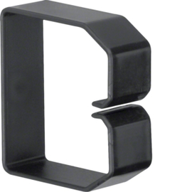 B600603 HAGER Drahthalteklammer 60060,schwarz Produktbild