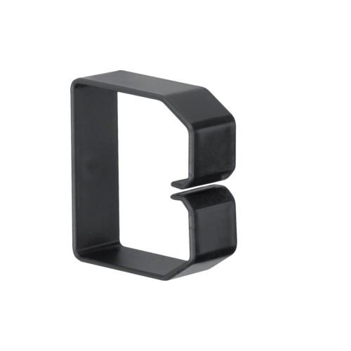 B600603 HAGER Drahthalteklammer 60060,schwarz Produktbild Front View L