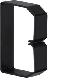 B600803 HAGER Drahthalteklammer 60080,schwarz Produktbild