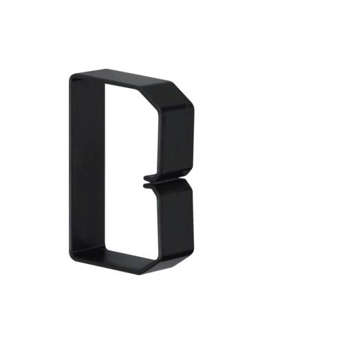 B600803 HAGER Drahthalteklammer 60080,schwarz Produktbild Front View L