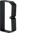 B601003 HAGER Drahthalteklammer 60100,schwarz Produktbild