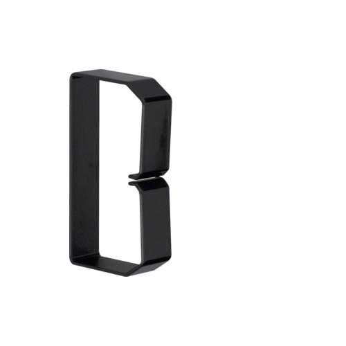 B601003 HAGER Drahthalteklammer 60100,schwarz Produktbild Front View L