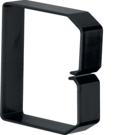 B800803 HAGER Drahthalteklammer 80080,schwarz Produktbild