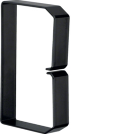 B801203 HAGER Drahthalteklammer 80120,schwarz Produktbild