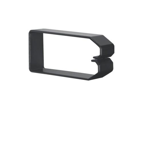 DN1000503 HAGER Drahthalteklammer 100050,schwarz Produktbild Front View L