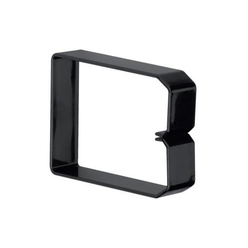 DN1000753 HAGER Drahthalteklammer 100075,schwarz Produktbild Front View L