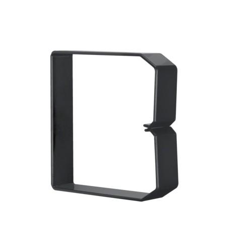 DN1001003 HAGER Drahthalteklammer 100100,schwarz Produktbild Front View L