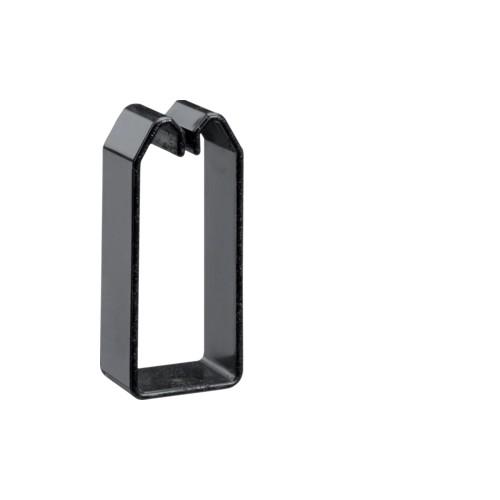 DN750373 HAGER Drahthalteklammer 75037,schwarz Produktbild Front View L