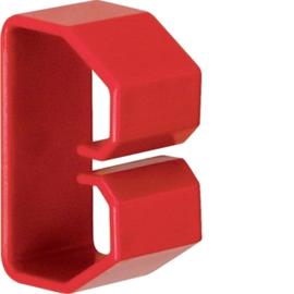 HN370503 HAGER Drahthalteklammer 37050,rot Produktbild