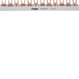 KDN363B HAGER Phasenschiene 3P Gabel 10mm² 63A 57M Produktbild